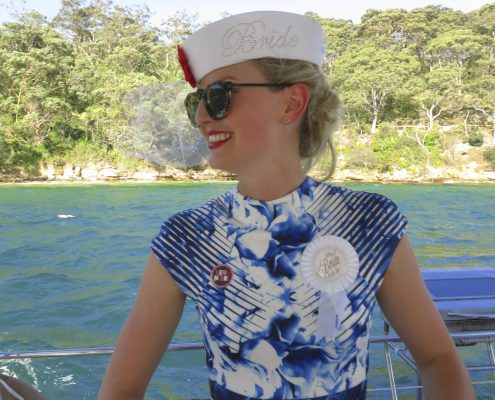 Sydney Harbour Bride to Be on Rockfish