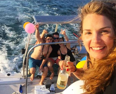 Birthday Party Cruise on Rockfish Catamarans