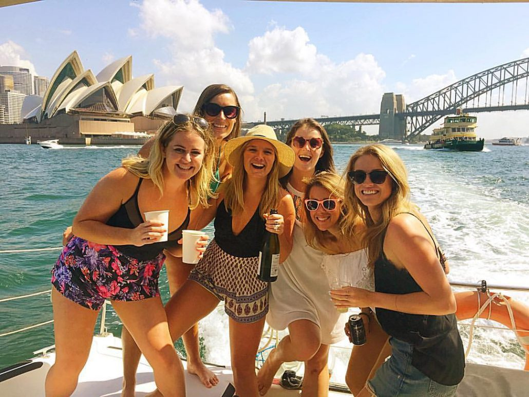 Girl's day out on Sydney Harbour this summer